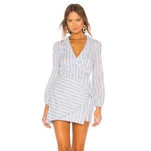 Majorelle Blue & White Striped Miranda Dress